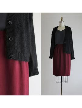 black-mohair-cardigan by etsy