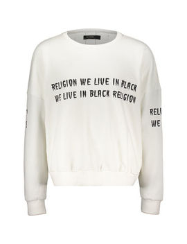 White Cotton Sweater by Religion