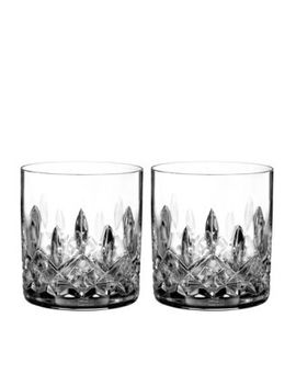 Lismore Connoisseur Whiskey Straight Sided Tumbler Glass, Set Of 2 by Waterford
