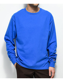 Champion Royal Blue Long Sleeve T Shirt by Champion