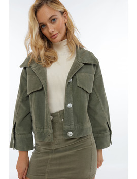 Oversized Corduroy Jacket by Chiquelle