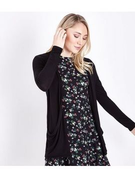 Petite Black Longline Cardigan by New Look