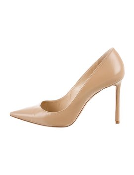 Romy 100 Leather Pumps by Jimmy Choo