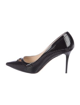 Patent Leather Cubed Pumps by Jimmy Choo