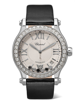 Happy Sport 36mm Stainless Steel, Satin And Diamond Watch by Chopard