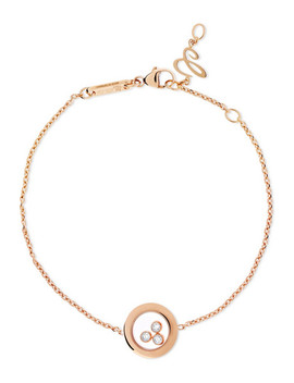 Happy Diamonds 18 Karat Rose Gold Diamond Bracelet by Chopard