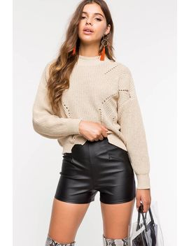 Didi Mock Neck Sweater by A'gaci