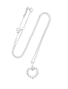 L'heure Du Diamant 18 Karat White Gold Diamond Necklace by Chopard