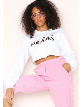 Jenna White Spice Girls Cropped Jumper by Missy Empire