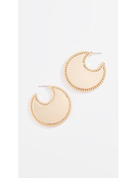 Bead Edge Hoop Earrings by Rebecca Minkoff