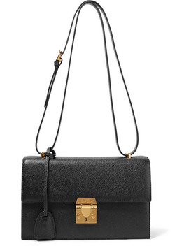 Downtown Textured Leather Shoulder Bag by Mark Cross