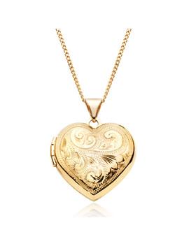 9ct Gold Heart Locket Pendant by Beaverbrooks