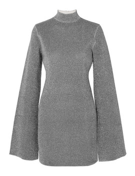 Alula Stretch Lurex Turtleneck Mini Dress by Solace London