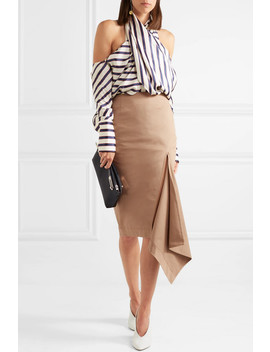 Asymmetric Cotton Blend Gabardine Skirt by Monse