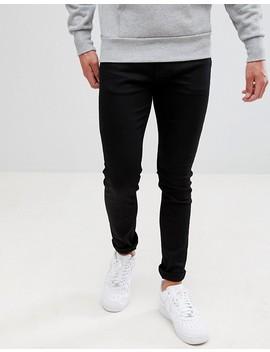 Weekday Form Super Skinny Jeans Black Wash by Weekday