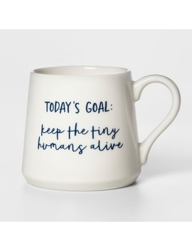 16oz Porcelain Today's Goal Mug White   Threshold™ by Threshold™