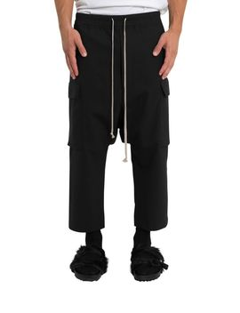 Rick Owens Cropped Cargo Trousers by Rick Owens