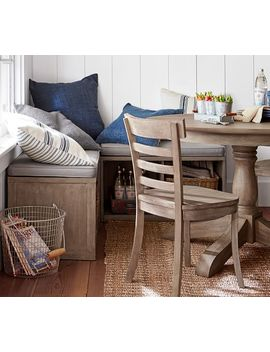 Modular Banquette Set (2 Benches Set, 1 Corner), Medium, Weathered Gray by Pottery Barn