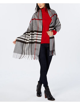 Exploded Plaid Soft Wrap by V. Fraas