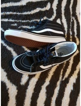 Mens Vans Sk8 Hi Suede Canvas Black & White Hi Top Trainers Shoes Uk Size 11 by Ebay Seller