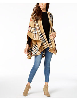 Exploded Plaid Poncho by V. Fraas