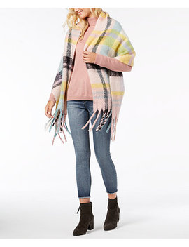 Color Me Plaid Blanket Scarf & Wrap by Betsey Johnson