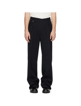 Black Wool Roland Trousers by Jil Sander