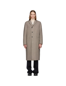 Multicolor Check Wool Raffaello Coat by Jil Sander