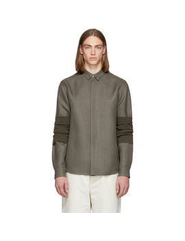 Grey Wrapped Ristoro Shirt by Jil Sander