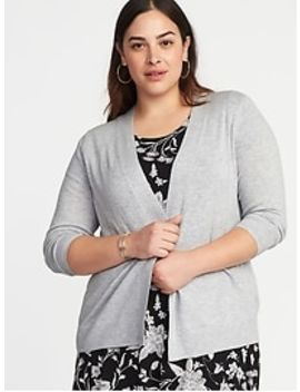 Short Open Front Plus Size Sweater by Old Navy