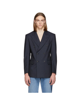 Navy Classic Double Breasted Blazer by Matthew Adams Dolan