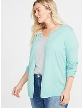 Semi Fitted Crew Neck Plus Size Cardi by Old Navy
