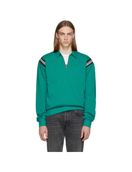 Green Half Zip Polo by Enfants Riches DÉprimÉs
