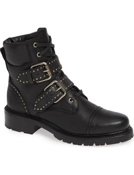 Samantha Stud Buckle Boots by Frye