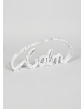 Calm Shaped Ornament (40cm X 16cm X 16cm) by Matalan
