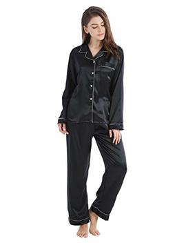Tony & Candice Women's Classic Satin Pajama Set Sleepwear Loungewear by Tony And Candice