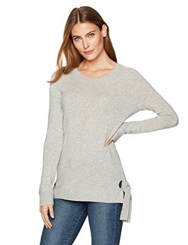 Lark & Ro Women's 100 Percents Cashmere Soft Sweater With Side Ties by Lark+26+Ro