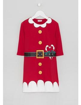 Girls Santa Novelty Christmas Dress (4 14yrs) by Matalan