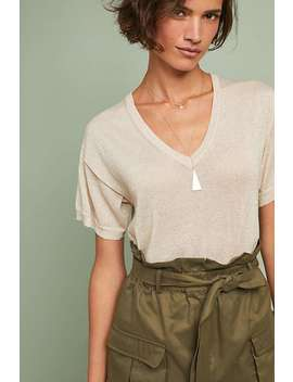 Shine V Neck Top by White + Warren