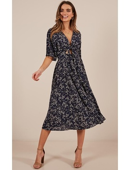 Inner Circle Only Dress In Navy Floral by Showpo Fashion