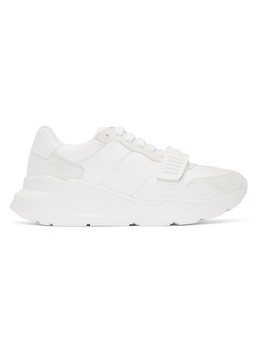 White Regis Sneakers by Burberry