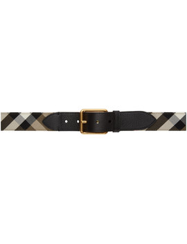 Black Check Belt by Burberry