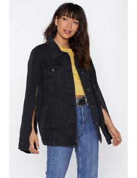 Zip It Oversized Denim Jacket by Nasty Gal