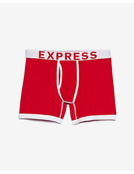 Red Contrast Trim Boxer Briefs by Express