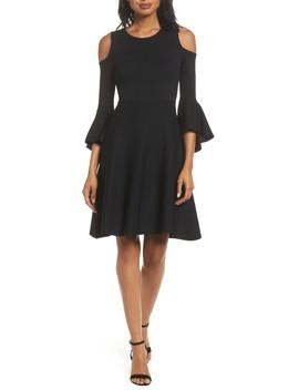 Cold Shoulder Fit & Flare Dress by Eliza J