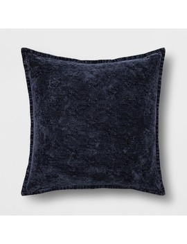 Stonewashed Chenille Oversize Square Throw Pillow   Threshold™ by Threshold™