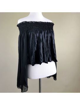 Band Of Gypsie Woman Top Off The Should<Wbr>Er Flare Sleeve Velvet Like Size Xs by Band Of Outsiders