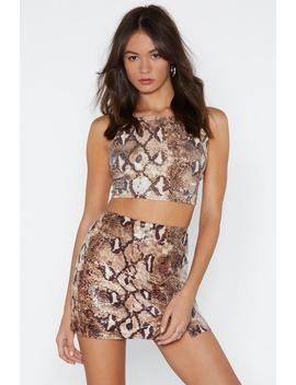 Sequin Ce Of Events Snake Skirt by Nasty Gal