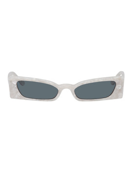 White Geraldine Sunglasses by Roberi & Fraud