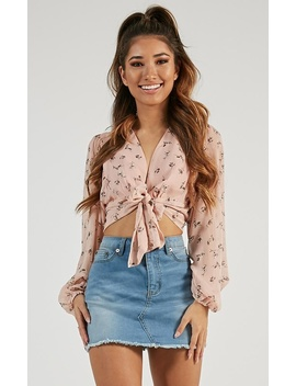 What More Can I Say Top In Blush Floral by Showpo Fashion